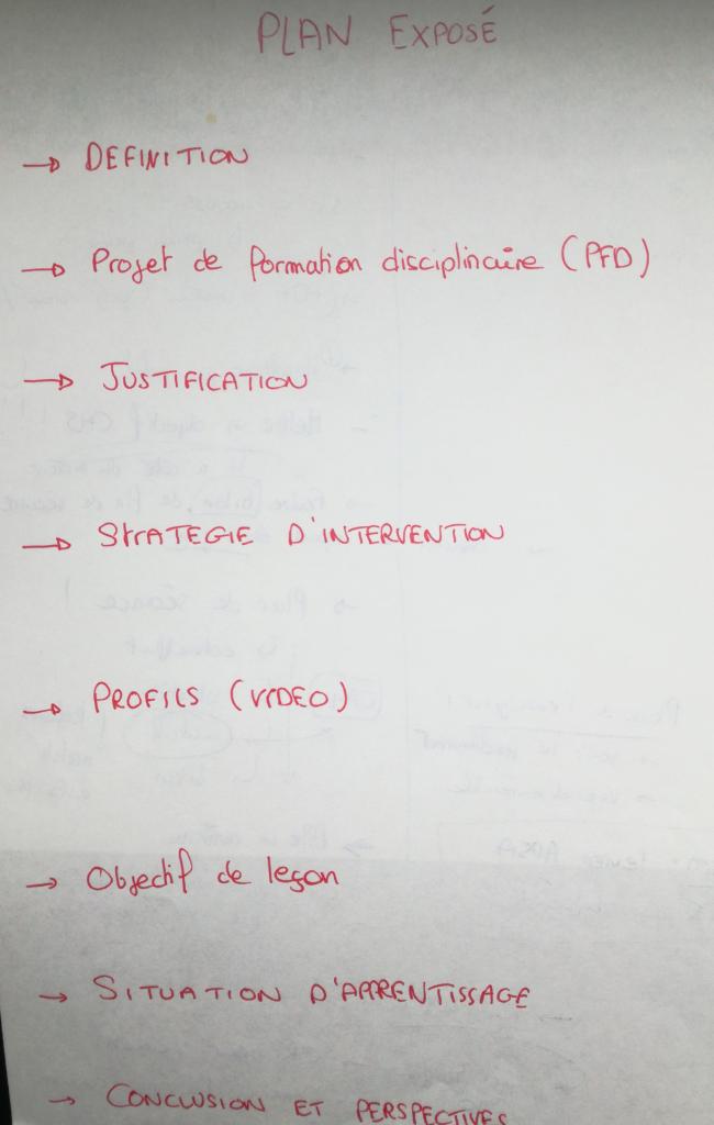 exposé oral leçon CAPEPS