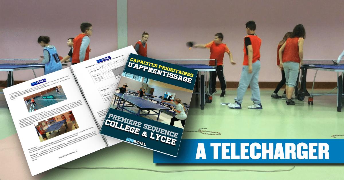 Tennis de table: les capacités prioritaires d'apprentissage