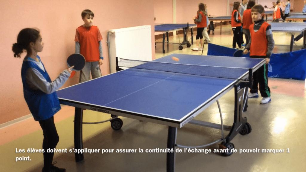 Assurer la continuité de l'échange en tennis de table