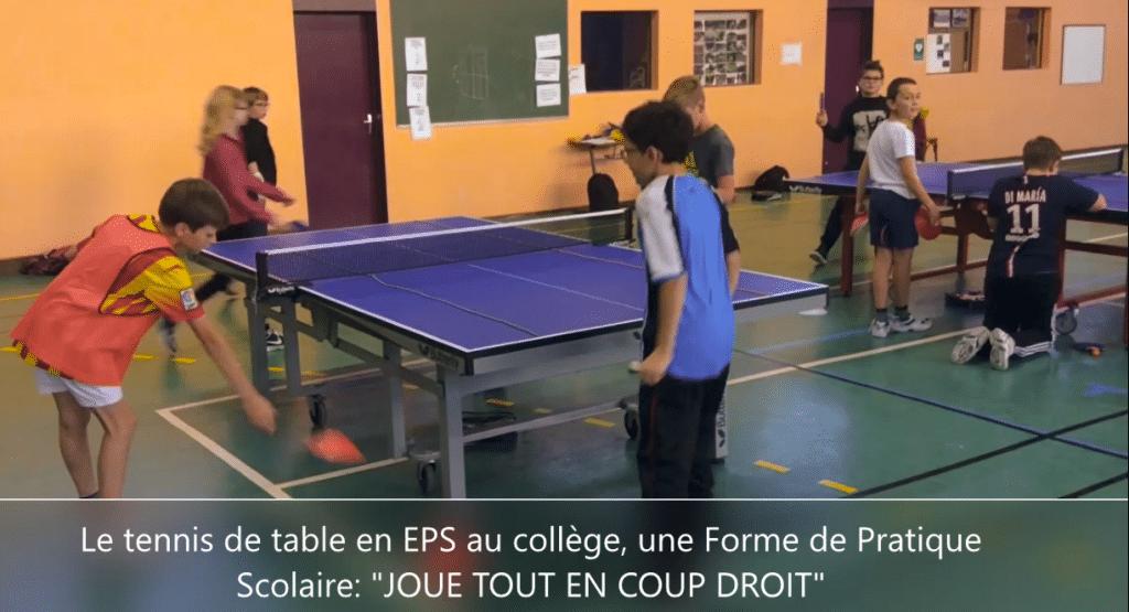 Le Tennis De Table En Eps Au College Et Au Lycee Des Pistes Pour